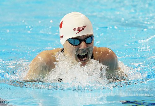 Abi Tripp shows her determination during the 2015 Parapan Am Games in Toronto,, Ontario.