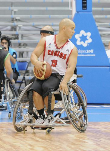 David Eng led Canada in an opening game loss on Thursday. Photo by Matthew Murnaghan/Canadian Paralympic Committee