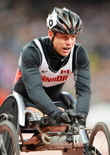 Alex Dupont, competing in London 2012, will be on the track for the first time on Sunday. Photo courtesy of Canadian Paralympic Committee.