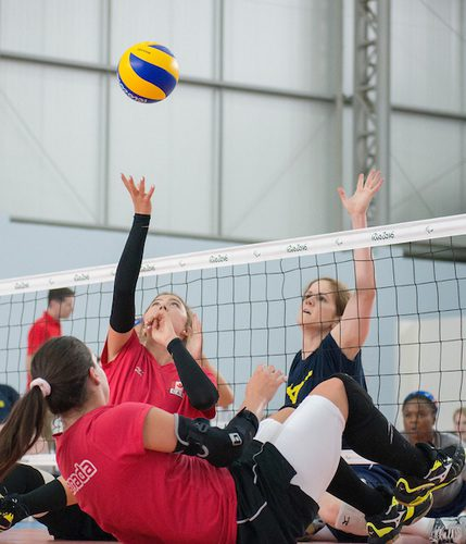 Jennifer Oakes makes her Paralympic debut Friday for Canada's sitting volleyball team. Matthew Murnaghan/Canadian Paralympic Committee