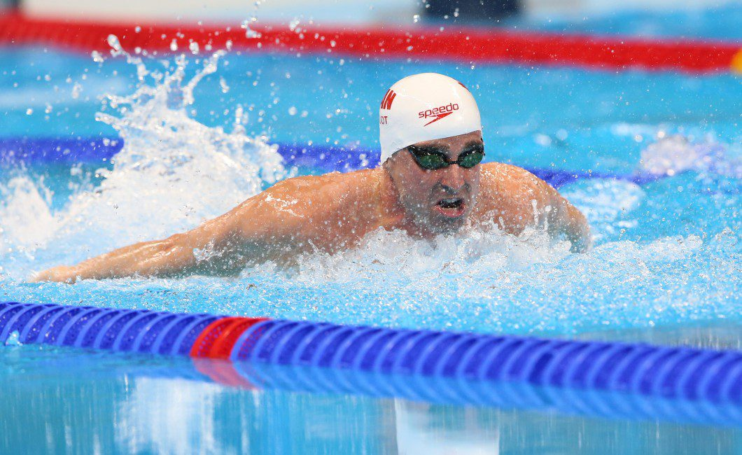 Canadian swimmer Benoit Huot competes in the men's 200m IM finals at the Olympic Aquatic Centre during the 2016 Paralympic Games in Rio.