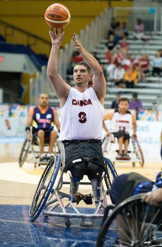 Adam Lancia competes in his fourth Paralympic Games as a member of the Canadian wheelchair basketball team. Photo courtesy of the Canadian Paralympic Committee.