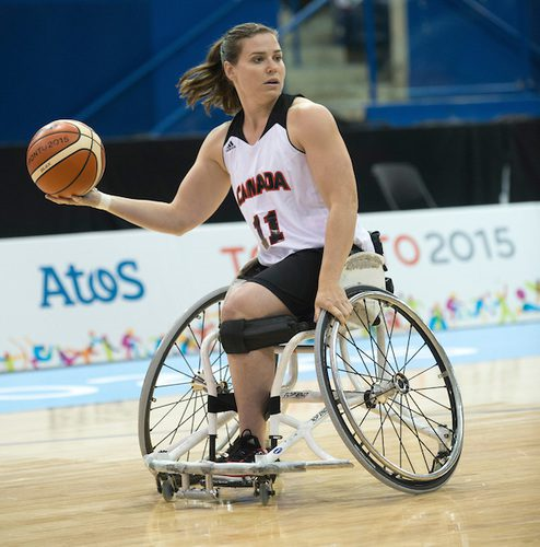 Canadian women's wheelchair basketball team, a favourite of Brazilian fans, advances to the quarter finals at Rio Paralympic Games. Photo courtesy of Canadian Paralympic Committee.
