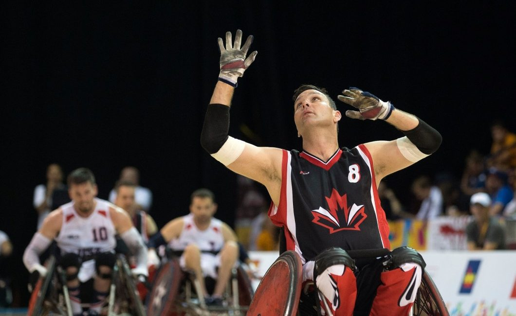 Mike Whitehead, competing for gold in the 2015 World Championships in Mississauga, hopes to add similar hardware to his resume at the Rio 2016 Games. Photo courtesy of the Canadian Paralympic Committee.