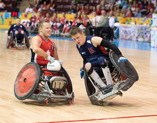 Wheelchair Rugby - Zak Madell, Canada's leading scorer through two games in the tournament.  Photo: Dan Galbraith/Canadian Paralympic Committee