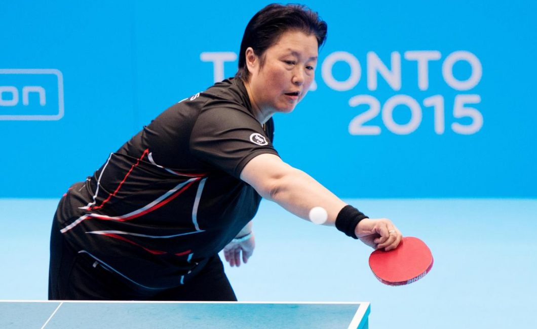 Stephanie Chan, pictured, as she competes for a gold medal during the 2015 Toronto Parapan Am Games. Picture courtesy of the Canadian Paralympic Committee.