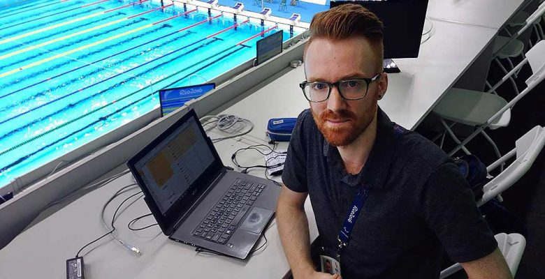 Ciarán Breen at the Aquatics Stadium in Rio