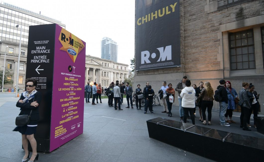 Hundreds of people began to line up ahead of the re-launch of the ROM's Friday Night Live event.