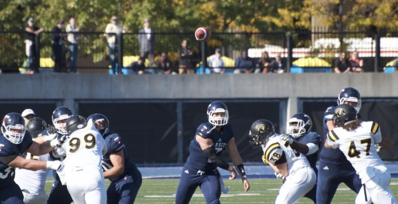 Marcus Hobbs (7) throws for 348 yards in his final CIS game.