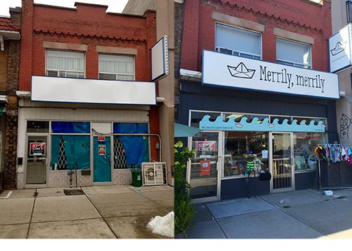 Now a permanent storefront on Danforth East, Merrily Merrily was one of DECA's most successful pop-up shops.