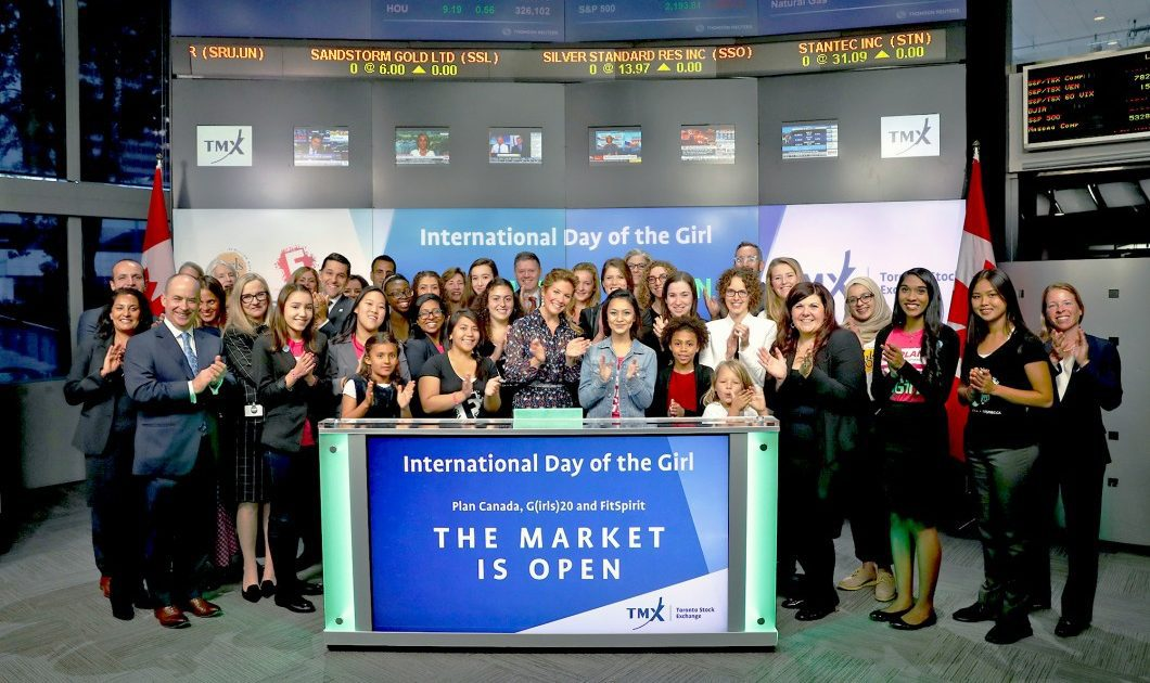 Sophie Grégoire Trudeau opens the stock market to promote International Day of the Girl.