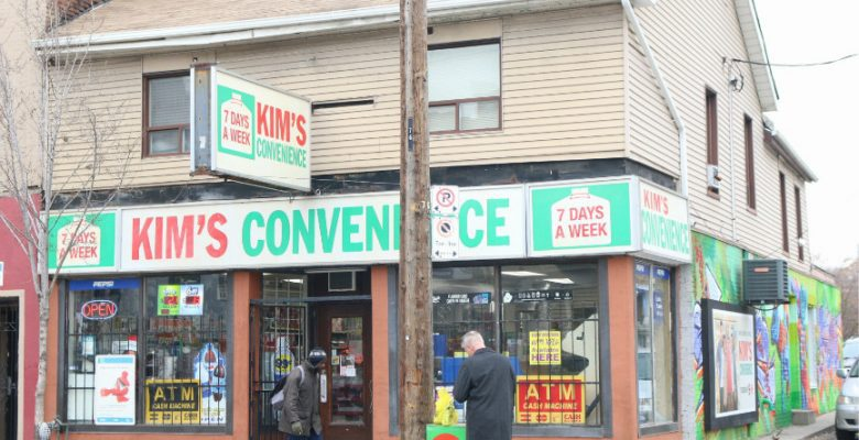 The owners of Mimi Variety on Queen Street E. kept the sign from the television show because it brings more customer to the place.