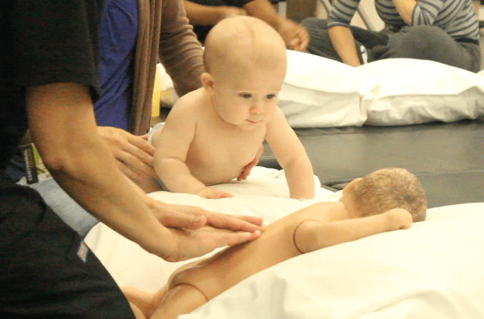 Babies like back rubs, just like the rest of us | The