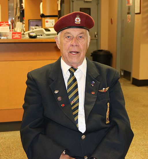 Ron Raby at Royal Canadian Legion Remembrance event.