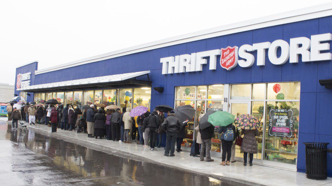 Hundreds line up for Salvation Army store opening