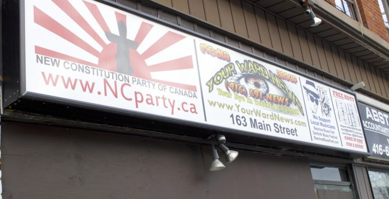 Storefront for Your Ward News, Toronto's most prominent neo-Nazi publication