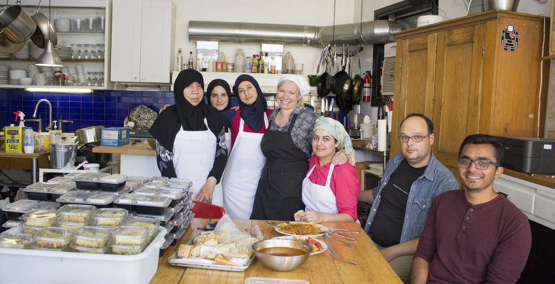 Syrian migrants running The Newcomer Kitchen - making authentic levantine dishes to make a living