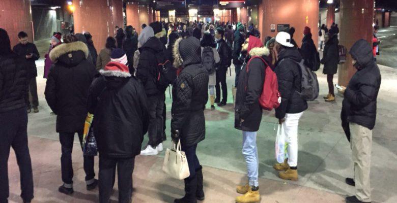 lines of TTC commuters