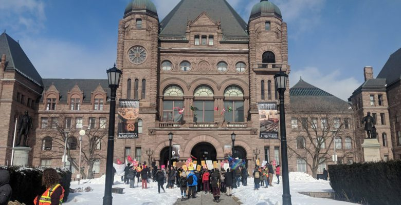 Student protesters at Queen's Park.