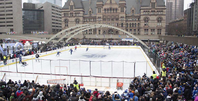 Leafs outdoor practice