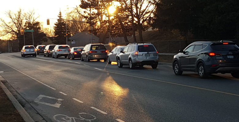 Cars ready to go at stoplight