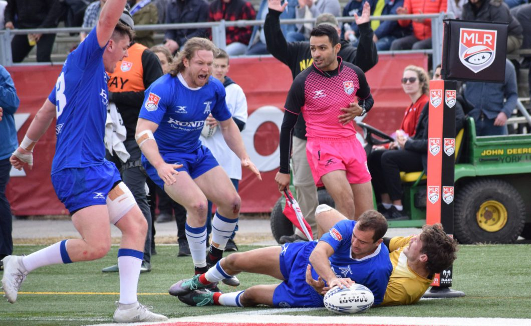 Fullback Gaston Mieres got two tries for the Toronto Arrows.
