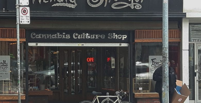 The Friendly Stranger Cannabis Culture Shop has profited greatlyu ever since the Hunny Pot opened across the street on April 1,2019